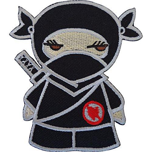Negro Ninja Girl hierro bordado/para coser ropa parche