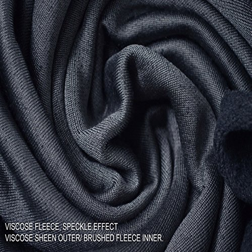 Tela Tejido Viscosa. Neotrims. Material para Suéter, Superficie Brillante, Debajo Cepillado Suave, Precio de Descuento. Azul y Gris y Liso Azul Marino