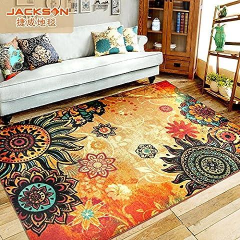 Tappeto-stile tavolino salotto pad tappeto-camera da letto tavolino ottomani , tiger , 133x190cm