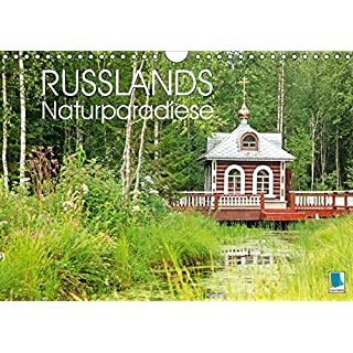 Russlands Naturparadiese (Wandkalender 2019 DIN A4 quer): Russlands Naturparadiese: eine Landschaft wie die russische Seele (Monatskalender, 14 Seiten ) (CALVENDO Orte)