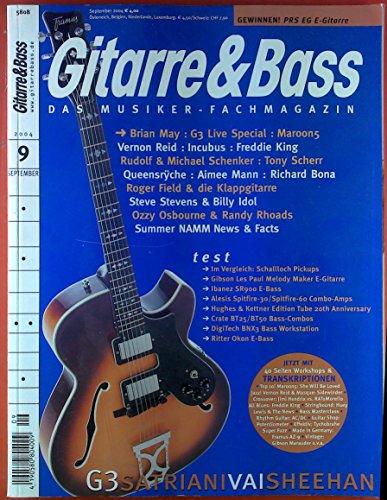 Gitarre & Bass. Das Musiker-Fachmagazin. 9, September 2004. Test: Schallloch Pickups Gibson Les Paul Melody Maker E-Gitarre; Ibanez SR900 E- Bass; ect. (E-gitarre-pickups, Ibanez)
