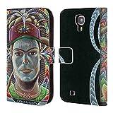 Head Case Designs Offizielle Chris Dyer Der Zuhörer In Rahmen Portraits Brieftasche Handyhülle aus Leder für Samsung Galaxy S4 I9500