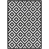Narma Luke? Reversible alfombra? Multicolor, algodón, Grün Grau Braun, 70 x 140 cm