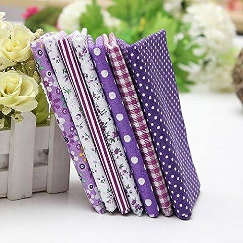 1 Set Purple 7 Surtido de rayas Telas encanto algodón acolchado