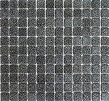 Mosaik-Netzwerk Mosaikfliese Quadrat uni steingrau rutschhemmend R10B Keramik rutschsicher trittsicher anti slip rutschfest Duschtasse Boden Küche Bad WC, Mosaikstein Format: 2,5x2,5x6 mm, Bogengröße: 330x302 mm, 10 Bögen