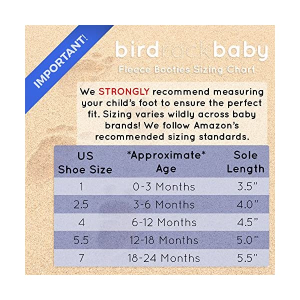 BirdRock Baby Botines de Bebé - Suave Algodon Organico, Mejor Que Calcetines! - Zapato Bebés 3