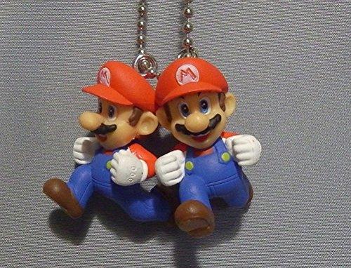 Nintendo Super Mario 3-D world Mascot Swing Figure Keychain~Double Mario 28mm