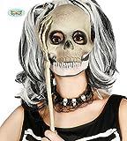 Guirca Skelett Maske mit Armknochen und Hand für Damen Schädel Halloween Horror Party Tot