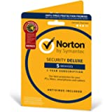 Norton Security Deluxe 2019   5 Devices + Utilities  1 Year   Antivirus Included   PC/Mac/iOS/Android   Activation Code…