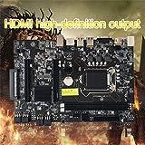Ruirain-DE B250 Straight Plug Motherboard DDR3 Sockets 12 x PCI-E X16 Card Sot Integrated CPU LGA 1151 MSATA BTC Motherboard