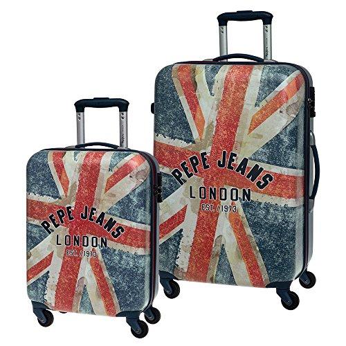 Pepe Jeans Set de Maletas, Diseño London Bandera, 64 litros