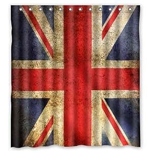Drapeau Rideau de douche New Style Anglais Angleterre Uk Drapeau Union Jack-Rideau de douche en Polyester étanche 168 x 183 cm de haut