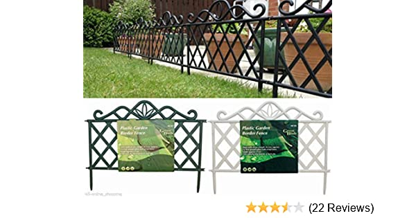 Garden Mile® Decorative Victorian Style Garden Fencing Garden Lawn Edging  Black Or White Picket Fence