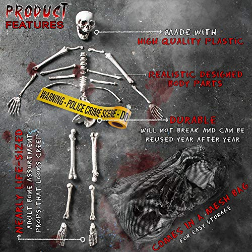 THE TWIDDLERS Halloween Saisonale Dekoration Tasche mit 25 gruseligen Knochen - Perfekt für Halloween Party deko Feiern - Ideal für Party Requisiten - 4