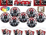 Stars Wars Last Jedi Villians Artículos para la Fiesta Platos Tazas Servilletas Mantelería Globos Gratis Colgantes Marco de fotos-16 Invitados