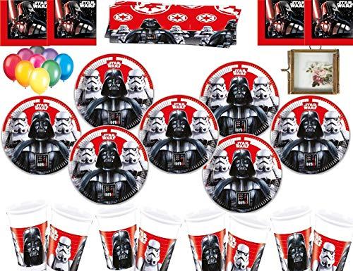 Stars Wars Last Jedi Villians Party Supplies Teller Tassen Servietten Tischdecke Gratis Luftballons Hängende Bilderrahmen-16 Gäste