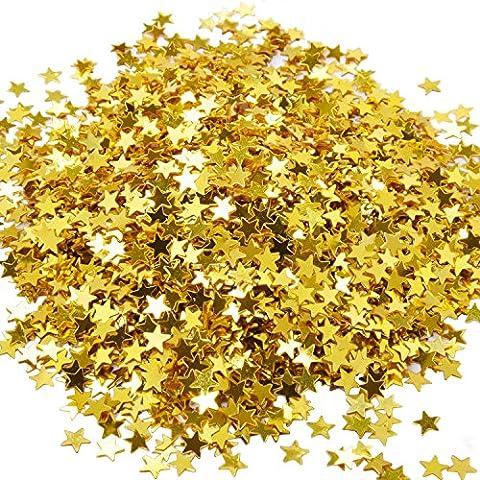 eBoot Confettis Étoilé Star Confettis pour Décorations de Mariage de Fête, 30 Grammes / 1 Once (Or)
