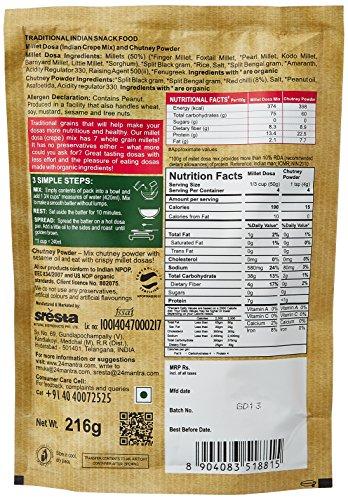 24 Mantra Organic Millet Dosa Mix, 216g