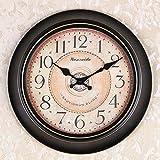 OLILEIOContinental Retro moderne, minimalistische kreative Persönlichkeit Mute Armbanduhr Quarzuhr amerikanische Schlafzimmer Wohnzimmer Uhr Second Hand (14 Zoll, 16 Zoll) ,16 Zoll, 12 Kurzwahleinträge