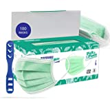 Medohealthy Model No. CV2992 3 Ply (100 Pieces)(Green Colour), SITRA Approved Disposable Surgical Mask With Built in Metal No