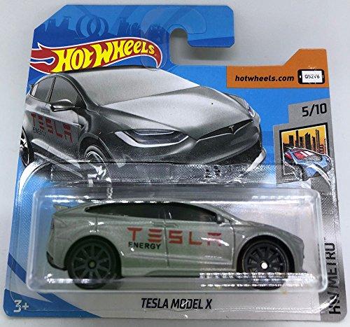 Hot Wheels - 2018- Tesla Model X - Argent 5/10HW Metro 247/365(carte courte)