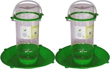 PetNest Food Grade Plastic Bird Water Feeder for All Bird, (Transparent) - 2 Pieces