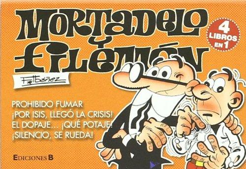 Mortadelo y Filemón: 4 libros en 1 (contiene: Prohibido fumar, ¡Por Isis, llego la crisis!, El dopaje ¡que potaje!, ¡Silencio, se rueda!) (colección)- formato bolsillo (LIBRINOS.)