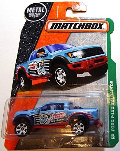 Matchbox, 2016 MBX Explorers, Ford F-150 SVT Raptor [Blue] #117/125 by Matchbox (Raptor Matchbox)