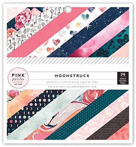 American Crafts 310485Papier Pad Rosa Paislee Mondsüchtig 15,2x 15,2cm, 36Blatt Papier Pad -