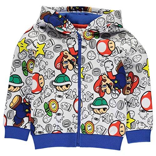 Character Sudadera con capucha y cremallera para niños Nintendo 13 años