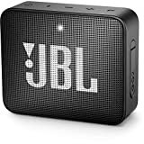 JBL GO 2 kleine Musikbox in Schwarz (Wasserfester, portabler Bluetooth-Lautsprecher mit Freisprechfunktion - Bis zu 5 Stunden Musikgenuss mit nur einer Akku-Ladung))