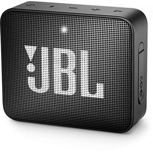 JBL GO2 Portable Bluetooth Speaker with Rechargeable Battery, Waterproof, Built-in Speakerphone, Black