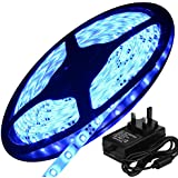 5M Flexible LED Strip Lights with 2A Power Supply Set, LED Tape, Cool White, Super Bright 300 Units 3528 LEDs, 60 LEDs/M, requires DC 12V, Non-Waterproof IP44, Light Strips, Pack of 5M (16.4Ft), For Home Indoor Decoration