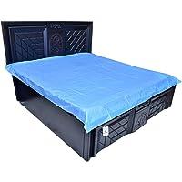 Kuber Industries™ Baby Plastic Sheet/Mattress Protector Sheet,Waterproof Bedsheet (6.5 Ft x 6.5 Ft) Plastic/PVC (Assorted Color) CODE-KMT04