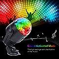 Discokugel Licht Miuko, Stimme Steuerung Disco Party Lichter Bühnenbeleuchtung Effektlicht DJ Stroboskop Kugel mit Spiegeln & Glitzereffekt & 7 Farben für Hochzeiten, Fernbedienung