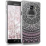 kwmobile Étui transparent élégant avec Design soleil indien pour Samsung Galaxy A3 (2016) en rose clair blanc transparent