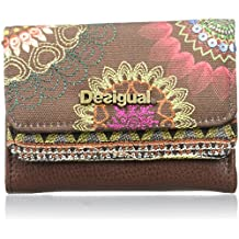 Desigual - MIX DAKOTA, Billetera Mujer, Marrón (6009), 12x9x3.5 cm (B x H x T)