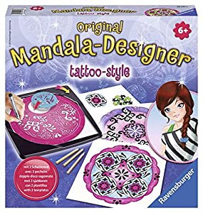 Ravensburger 29743 Mandala-Designer® - Set de diseño y dibujo motivos de tatuaje Importado de Alemania