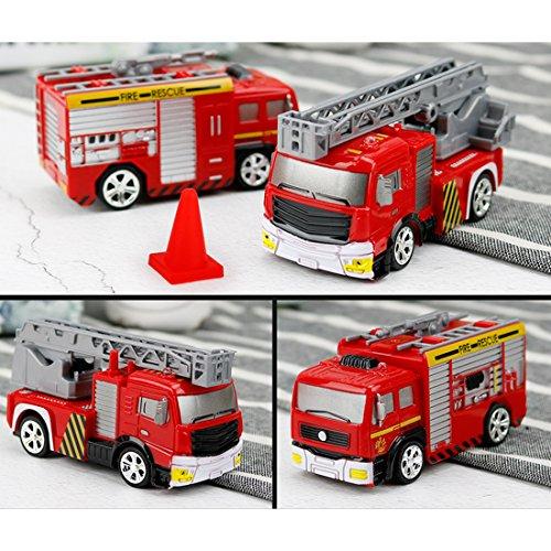 RC Auto kaufen Feuerwehr Bild 5: RC Feuerwehrfahrzeug, Vicoki Ferngesteuert Mini Ferngesteuertes Fahrzeug Feuerwehr Auto Spielzeug*