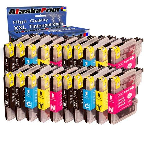 Galleria fotografica 20x Cartucce d'inchiostro Brother LC-985xl LC-985 xl Sostituzione per Brother DCP-J315W MFC-J220 MFC-J410 Series MFC-J415W MFC-J615W DCP-J315X DCP-J515 MFC-J265 MFC-J515W Alta Capacità ,con nuovi chip