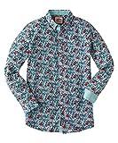 Joe Browns Herren Langärmliges Hemd mit Blumenmuster Mehrfarbig M