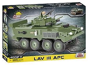 COBI- LAV III APC Vehículo, Color Verde y Negro (2609)