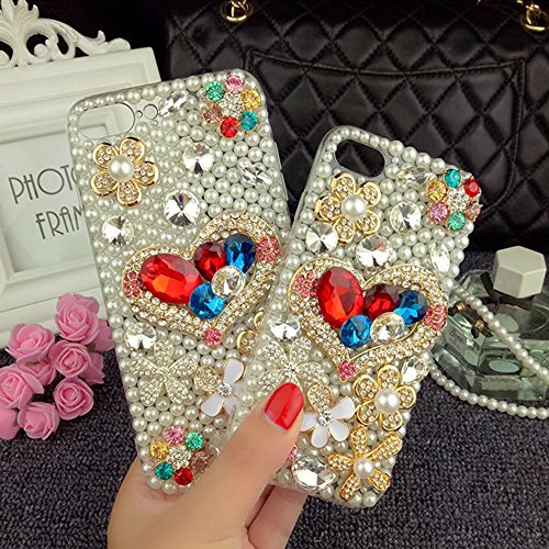 Bling Bling iPhone 6S Hülle, MOMDAD Diamant Glitzer Glänzend Handmade Schutzhülle für iPhone 6S 6 Handyhülle Transparent PC Hart [Blume Parfüm Perfume Eiffelturm Eiffel Tower] Case Cover Luxus Crystal Diamond # 3