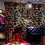 Ktv Gold Tapete Wasserdichte 3D Mode Farbe Glitter Bar Ballsaal Hintergrund Dekor Wandverkleidung Wandpapierrolle