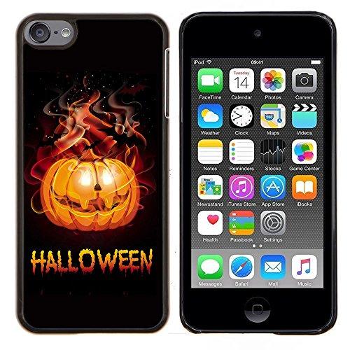 Graphic4You Halloween Allerheiligen Thema Kürbis Design Harte Dünn Hülle Tasche Schale Schutzhülle für Apple iPod Touch 6 (Thema Halloween Mp3 6)