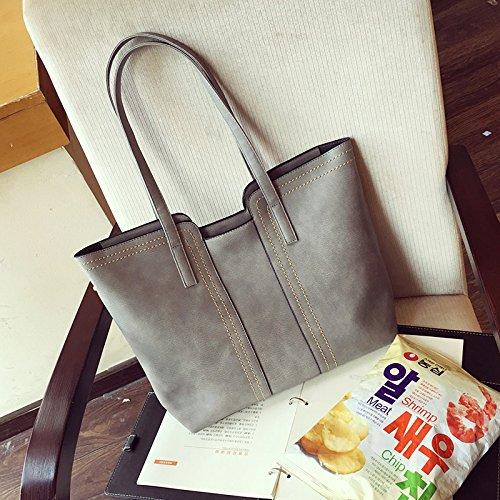 Les paquets pour bun grand sac vintage sac à bandoulière décontracté sac à main Messenger polyvalent Gray