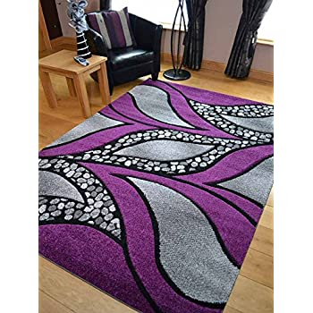 super verso purple modern hand carved dense rug available in 6 sizes 80cm x 150cm