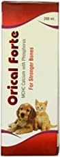 Orical Forte Calcium Syrup with Vitamins for Dogs/Cats and Pups/Kitten 200 ml