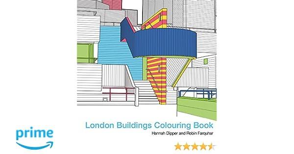 London Buildings Colouring Book Books Amazoncouk Robin Farquhar Hannah Dipper 9781849943550