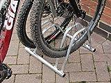 verzinkt 2Abschnitt Dual Höhe Flat Top Jumbo Größe Cycle Rack/Bike Stand By Bison Produkte